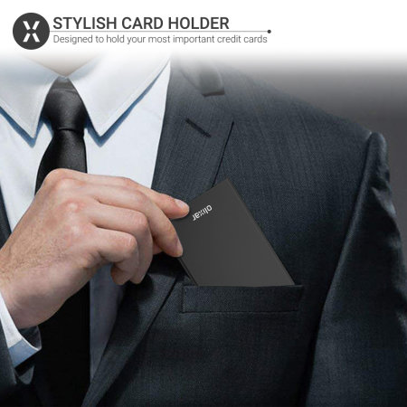 Olixar Aluminium RFID Blocking Card Holder - Black