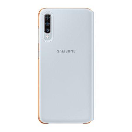 Official Samsung Galaxy A70 Wallet Flip Cover Case - White