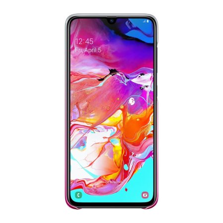Official Samsung Galaxy A70 Gradation Cover Case - Pink