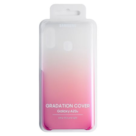 Official Samsung Galaxy A20e Gradation Cover Case - Pink