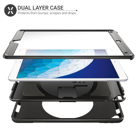 Olixar iPad Air 2019 Rugged Case With Hand Strap And Shoulder - Black