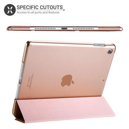 Olixar iPad Mini 2019 Folding Stand Smart Case - Rose Gold