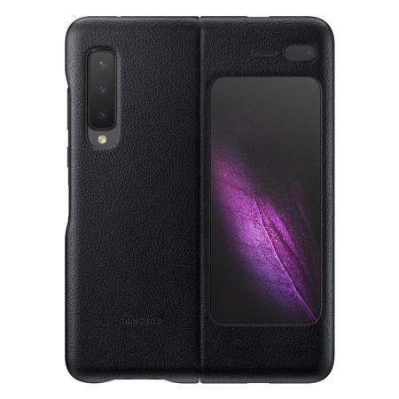Official Samsung Galaxy Fold 5G Genuine Leather Cover Case - Black