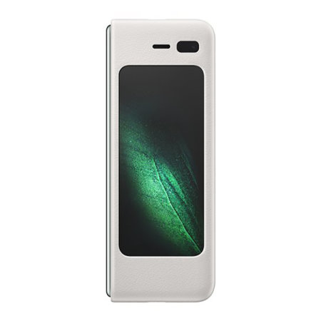 Official Samsung Galaxy Fold 5G Genuine Leather Cover Case - White