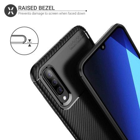 Olixar Carbon Fibre Samsung Galaxy A70 Case - Black