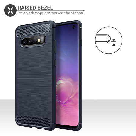 Olixar Sentinel Samsung S10 Case And Glass Screen Protector-Blue