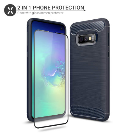 Olixar Sentinel Samsung S10e Case And Glass Screen Protector - Blue