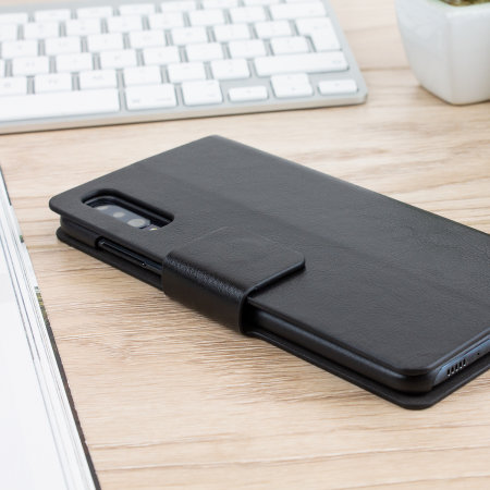 Olixar Leather-Style Samsung Galaxy A70 Wallet Stand Case - Black