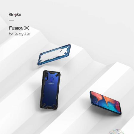 Ringke Fusion X Samsung Galaxy A20 Case - Black