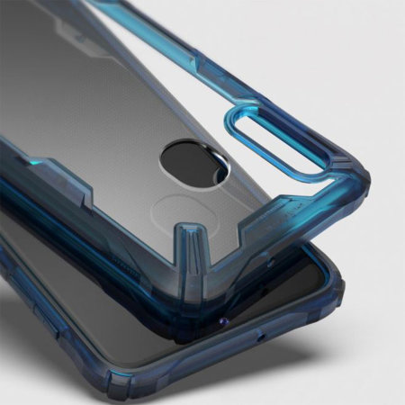 Coque Samsung Galaxy A20 Rearth Ringke Fusion X – Bleu espace