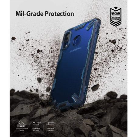 Ringke Fusion X Samsung Galaxy A20 Case - Space Blue