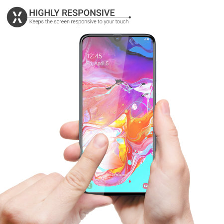 Olixar Samsung Galaxy A70 Tempered Glass Screen Protector