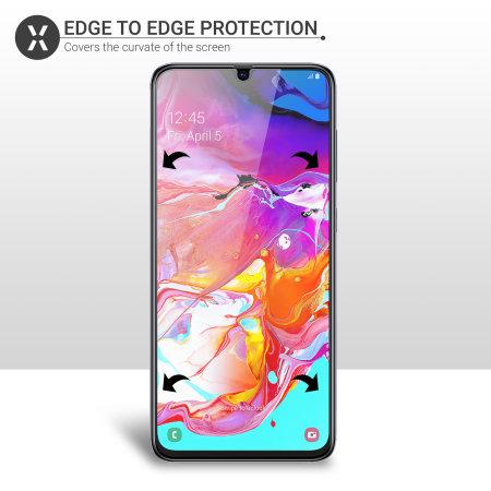 Olixar Samsung Galaxy A70 Film Screen Protector 2-in-1 Pack