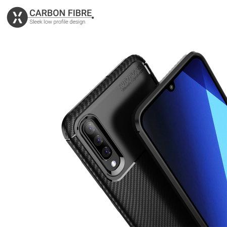 Olixar Carbon Fibre Samsung Galaxy A50 Case - Black