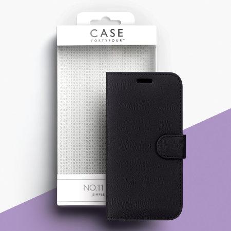 Case FortyFour No.11 Samsung Galaxy  A40 Cross Grain Black