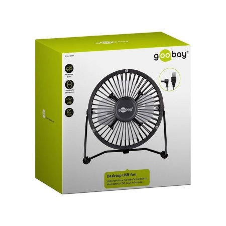 Goobay 4 Inch Desktop USB Fan - Black