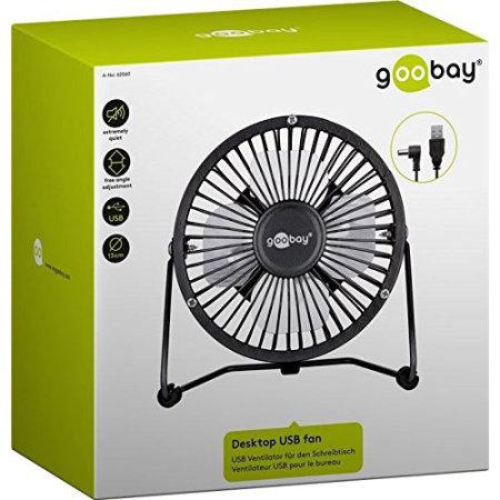 Goobay 8 Inch Desktop USB Fan - Black