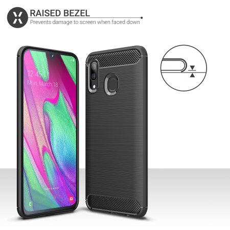 Olixar Sentinel Samsung Galaxy A40 Case And Glass Screen Protector