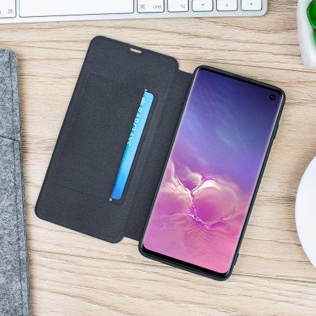 Olixar Canvas Samsung Galaxy S10 Wallet Case - Grey