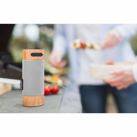 Coluna exterior KitSound Diggit Bluetooth - Madeira
