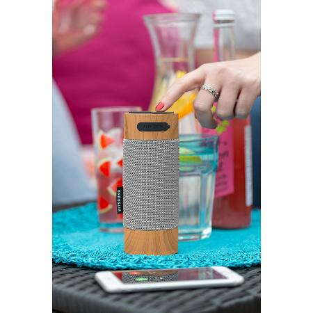 KitSound Diggit Bluetooth Outdoor Speaker - Wood