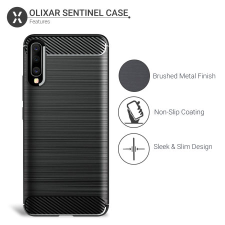 Olixar Sentinel Samsung Galaxy A70 Case And Glass Screen Protector