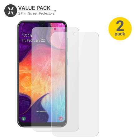 Olixar Samsung Galaxy A50 Film Screen Protector 2-in-1 Pack