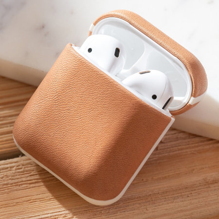 Nomad Airpods Case Genuine Leather - Natural Leather