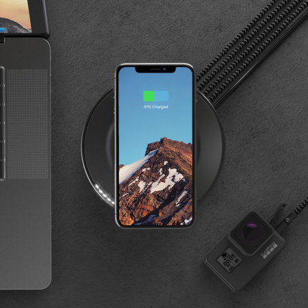 Nomad Quad USB Port Wireless Charging Hub - Black