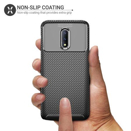 Olixar Carbon Fibre OnePlus 7 Case - Black