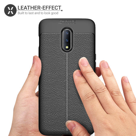 Olixar Attache OnePlus 7 Leather-Style Protective Case - Black
