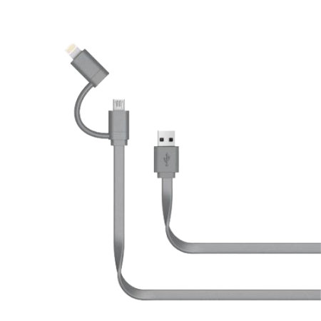 Just Wireless 2 in 1 MFi Lightning & Micro USB Charging Cable