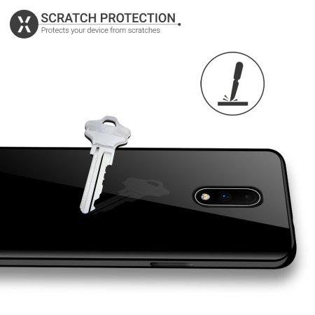 Olixar FlexiShield OnePlus 7 Gel Case -Solid Black