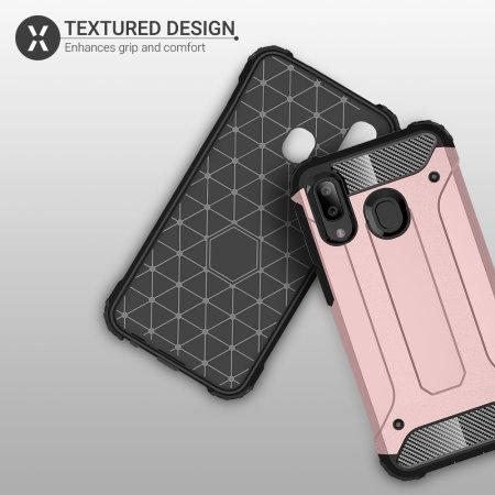 Olixar Delta Armour Protective Samsung Galaxy A40 Case - Rose Gold