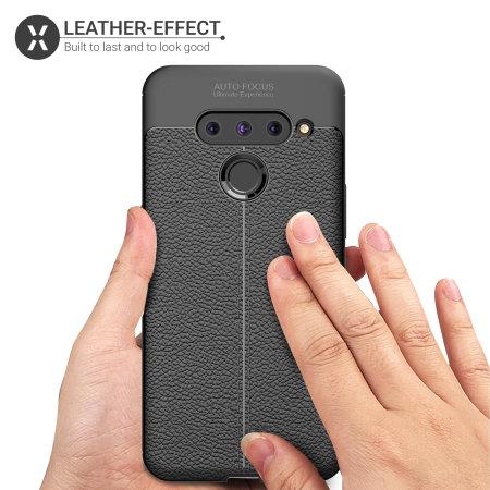Olixar Attache LG V50 ThinQ Leather-Style Case - Black