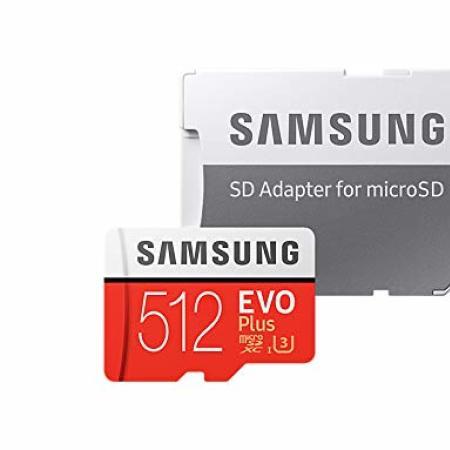 Samsung 512GB MicroSDXC EVO Plus Memory Card con adattatore SD
