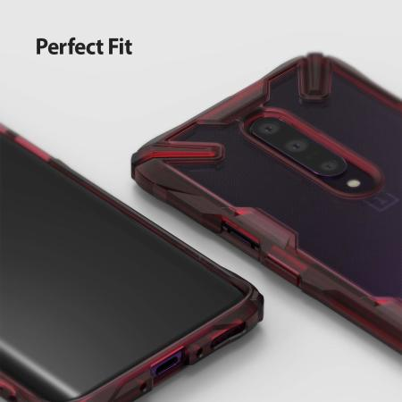 Coque OnePlus 7 Pro Rearth Ringke Fusion X – Rouge rubis