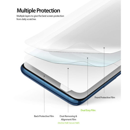 Ringke OnePlus 7 Pro Full Cover Screen Protectors (2 Pack)