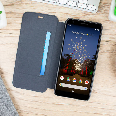 Olixar Canvas Google Pixel 3a Wallet Case - Grey