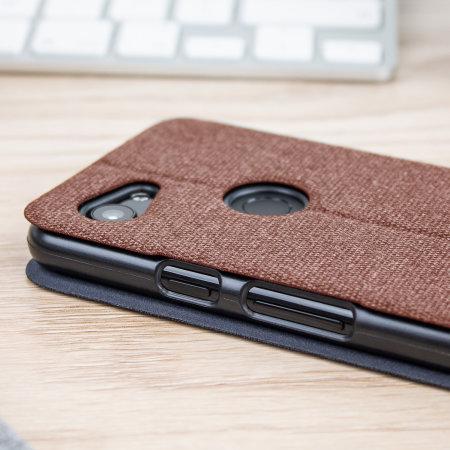 Olixar Canvas Google Pixel 3a Wallet Case - Brown