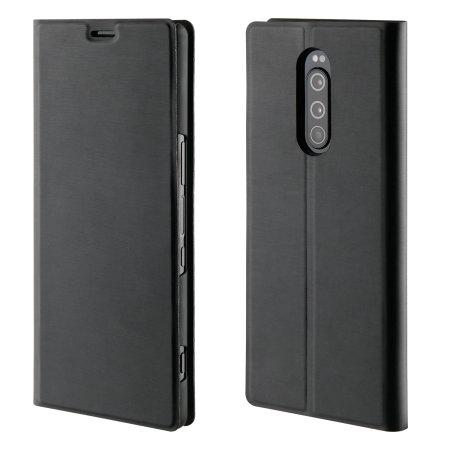 Roxfit Sony Xperia 1 Slim Stehende Bücher Hülle - Schwarz