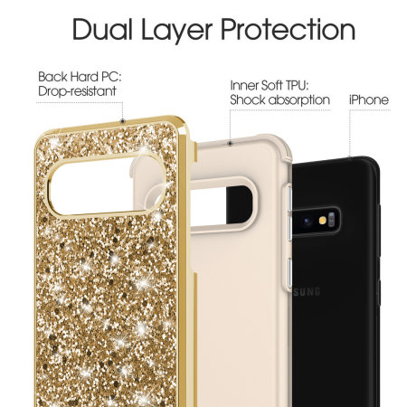 Zizo Stellar Series Samsung Galaxy S10 Case - Gold