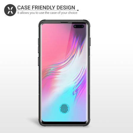 Olixar Samsung S10 5G Case Compatible Glass Screen Protector - Black