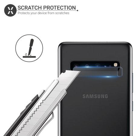 Olixar Samsung S10 5G Tempered Glass Camera Protectors - Twin Pack