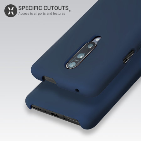 Olixar OnePlus 7 Pro Soft Silicone Case - Midnight Blue