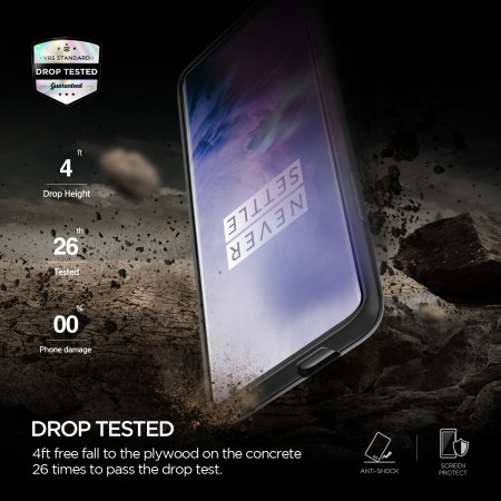 Funda OnePlus 7 Pro VRS Design Damda High Pro Shield - Plateada