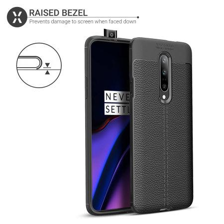 Olixar Attache OnePlus 7 Pro 5G Leather-Style Protective Case - Black