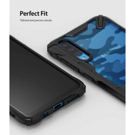 Ringke Fusion X Samsung Galaxy A70 Tough Case - Camo Black