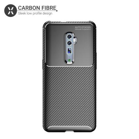 Olixar Oppo Reno 10x Zoom Carbon Fibre Case - Black