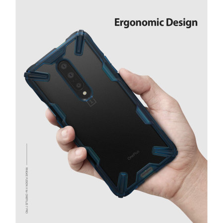 Ringke Fusion X OnePlus 7 Pro Case - Blue
